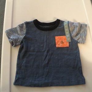 Gap Boys Blue Gray Short Sleeve Shirt Alize 12-18m